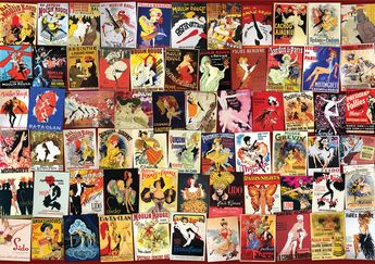 A great way to enjoy a collection of cabaret productions with this Cabaret Collage vintage poster image.