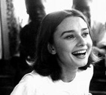 Audrey Hepburn and laughter.
