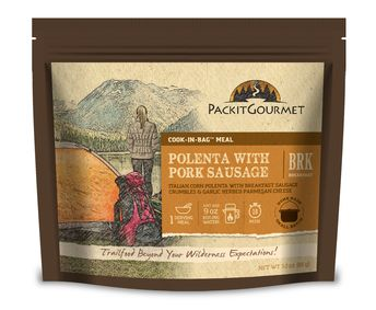 Packit Gourmet. Best backpacking food I've ever had. This is my go-to for camping.