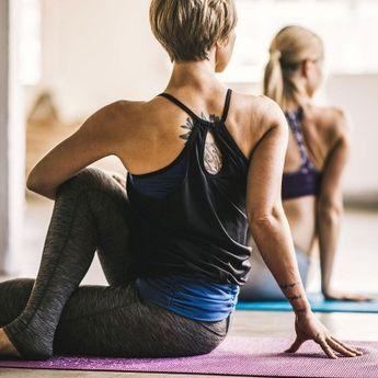 Gaiam Medallion Yoga Mat (3mm), Medium Purple