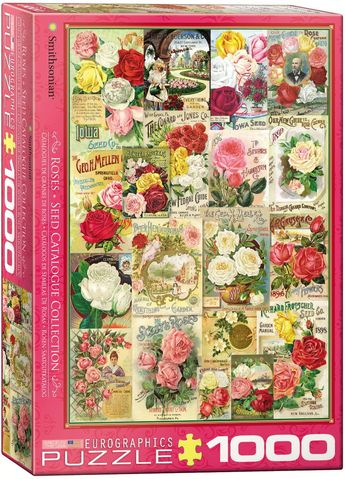 Smithsonian - Roses Seed Catalogue Collection - 1000 Piece Jigsaw Puzzle