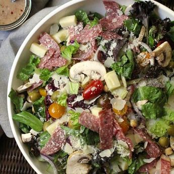 Italian Chopped Salad with Creamy Italian Dressing