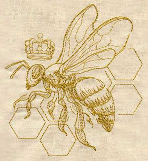 Queen Bee   Urban Threads: Unique and Awesome Embroidery Designs