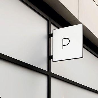 minimal and sleek exterior signage via @presentandcorrect #curatednotes
