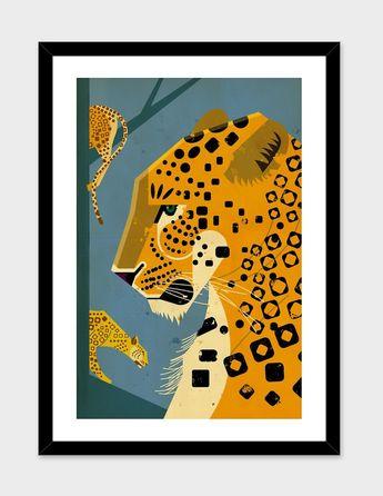 «Leopard» Art Print by Dieter Braun