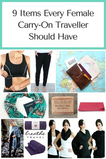 9 Genius Items Every Female Carry-On Traveller Should Have