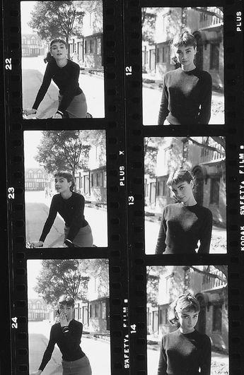 Audrey Hepburn is my religion — negatives of Audrey Hepburn photographed by Mark...