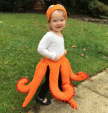 Octopus Costume Pattern for Toddlers and Preschoolers 2 - 4 (or squid costume!)