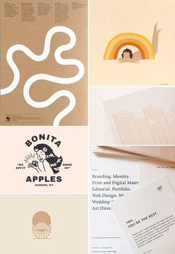 feminine graphic design inspiration