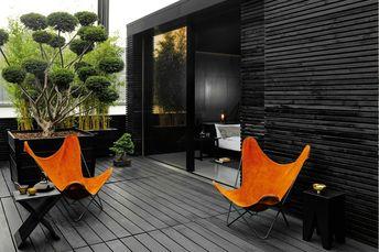 Le Jardin , façade , balcon , terrasse etc ..... LE NOIR - El' Lefébien