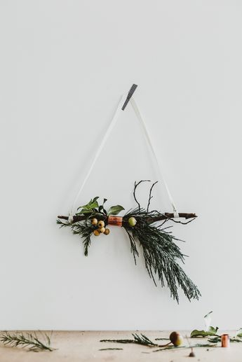 copper and twig wreaths