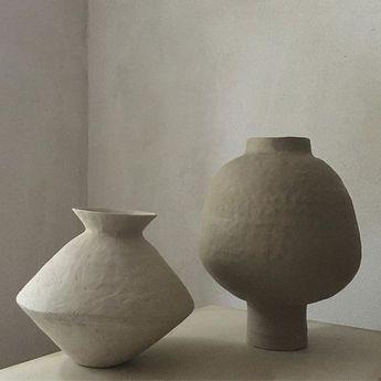 Ceramics / Pottery | Vases Vessels by Jessica Coates | Ornamental Sculptural Decorative Home Decor Contemprary Design | Asymmetric Irregular Shape Seedpod-like Pods Pod-like Seedpods Seed Pods Poppy Poppies