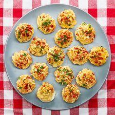 Muffin Tin Deviled Eggs