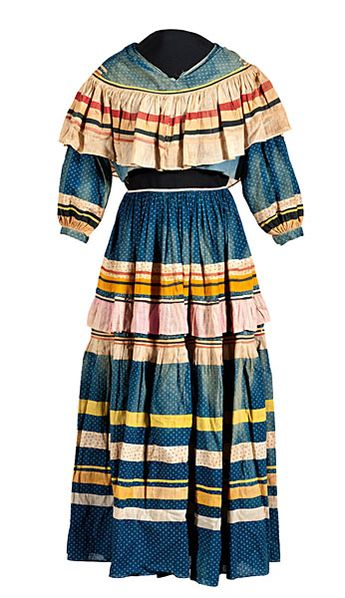 Seminole Woman's Skirt and Blouse From the Creek Council House Museum Association, Okmulgee, Oklahoma
