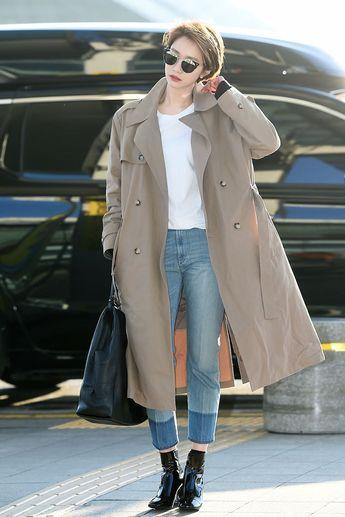 한파주의보도 비켜간 소녀시대-고준희 공항 사진