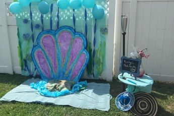 Photo booth background, under the sea theme. Cute idea for under the sea  birthday