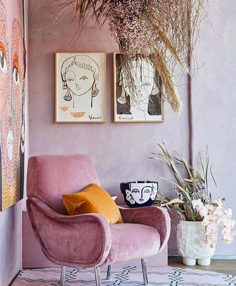 color palette: pink + yellow