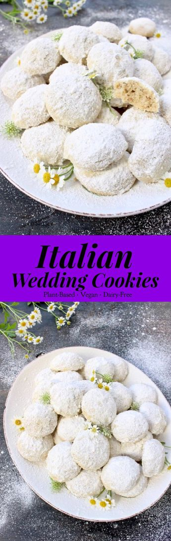 Italian Wedding Cookies with Walnuts and Hazelnuts! Easy, Vegan and Christmasy! #plantbased #easyrecipe #cookies #veganrecipes #christmascookies