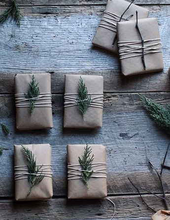 brown paper christmas wrap