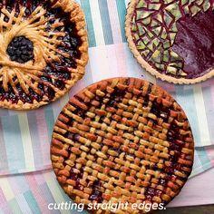 Blueberry Geometric Spoke Pie