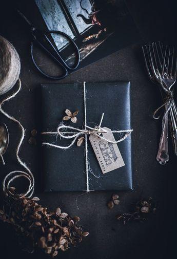 geschenkverpackung schwarz