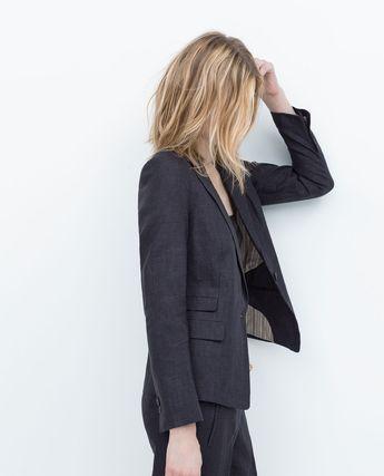 Image 3 of LINEN BLAZER from Zara
