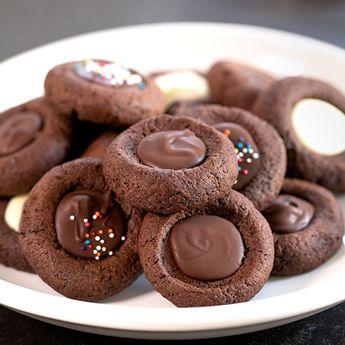 Gluten Free Chocolate Thumbprint Cookies