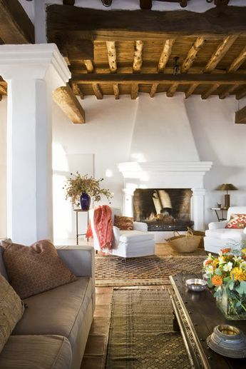 Santa Fe style living room