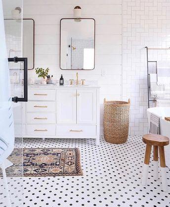 Beautiful bathroom with double vanity