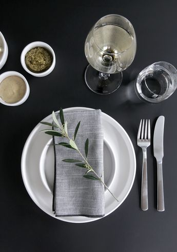 TABLE SETTING TIP - A TWIG OF OLIVE