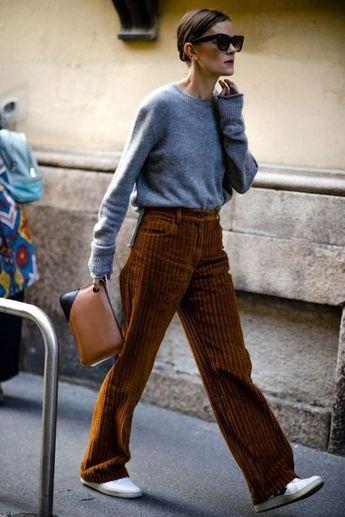 Inspiração: calça de veludo cotelê