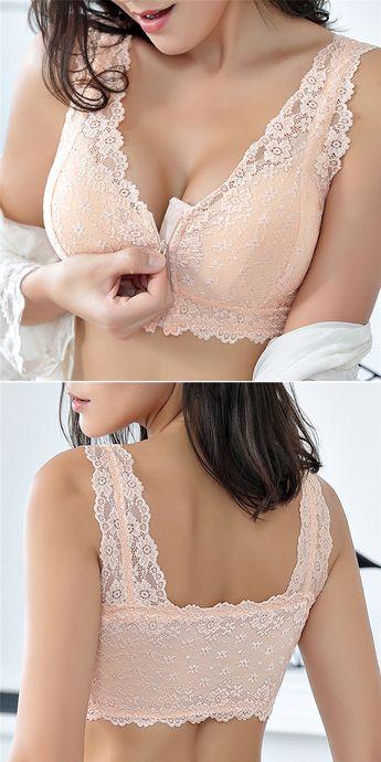 Zip Front Cotton Bra