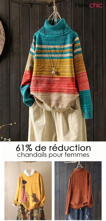 61% de réduction. Chandails pour femmes.