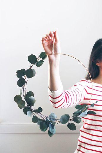 Modern Wreath   Eucalyptus Wreath   Scandinavian Wreath   Minimalist Wreath   DIY Fall Wreath   Christmas Holiday Wreath   DIY Kit