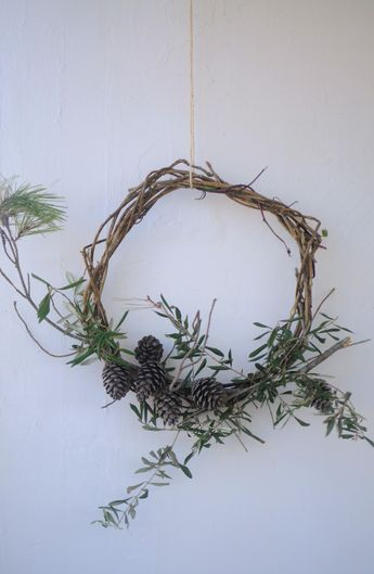 For years I used the wire bases for wreaths, making my own and buying them. I still think they are great! However, they can be expensive and also I am trying to challenge myself more and more to flower arrange devoid of any wires or tapes or foam. I recently started making my own …