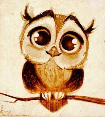 Cute owl painting