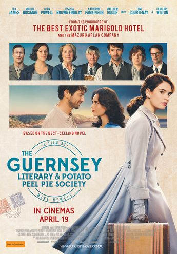 If you want a fantastic heartwarming movie in the vein of Downton Abbey and other light British dramas then THE GUERNSEY LITERARY AND POTATO PEEL SOCIETY is for you.