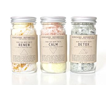 Dead Sea Bath Salts. 3 Types. Essential Oils. 100% Natural Vegan Handmade. Gift Set.. $20.00, via Etsy.