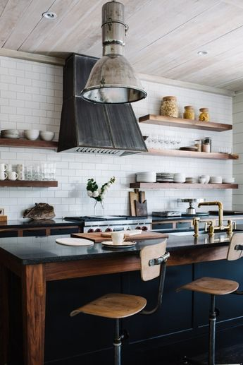"""Kitchen of the Week: """"Soft Industrial"""" in a Georgia Hamlet"""