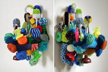 Coral Reef Sculptures From Common Household Items