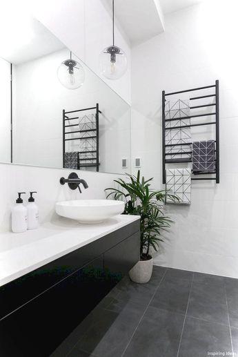 99+ Luxury Black and White Bathroom Ideas