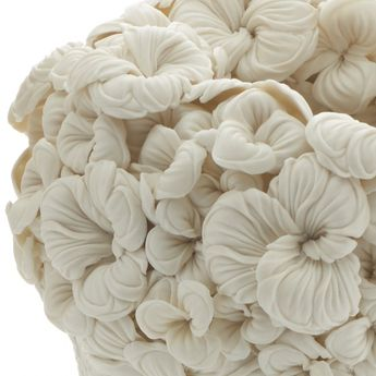 Porcelain Sculptures Inspired By English And Japanese Botanics