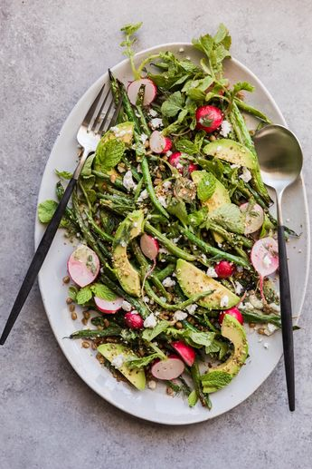Grilled Green Bean Salad