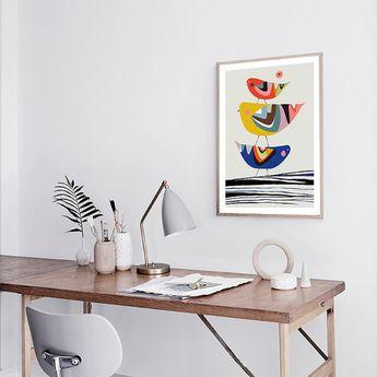 Family Tree Print, Bird, wall art home decor inspirational art wall decor printable Nursery Decor Ki