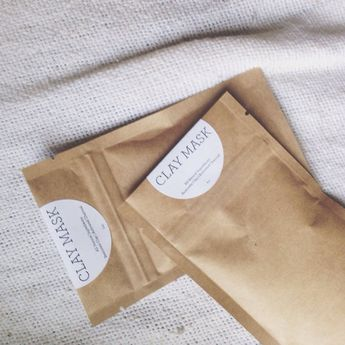 Face Clay Mask by onyaenaturals on Etsy - Kraft Packaging | Kraft Stand Up Pouch | Clay Mask Packaging