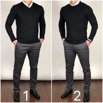 hich do you like better...a v-neck sweater or crewneck sweater❓🤔 1 or 2❓Its another very slight change that can make a big difference. Let