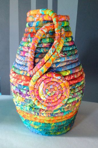 Coiled Baskets Are Great for Using Up Scraps