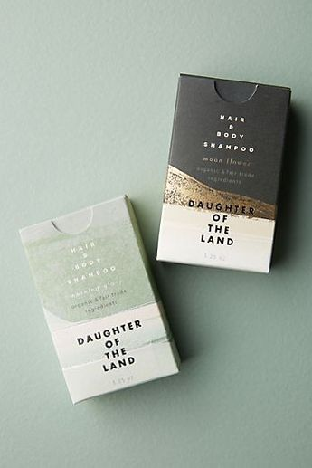 #1 Choice right now - a box design. Daughter of the Land Hair + Body Shampoo Bar