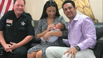 Baby Reunites With Deputy Who Delivered Him on Side of Road in Florida