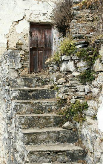 ...wooden door...